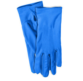 Adult Gloves with Snaps Blue