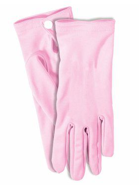 Adult Gloves with Snaps Pink