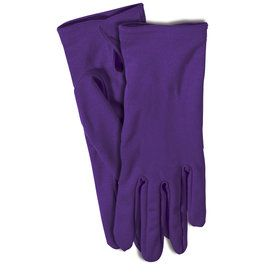 Adult Gloves with Snaps Purple