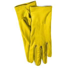 Adult Gloves with Snaps Yellow