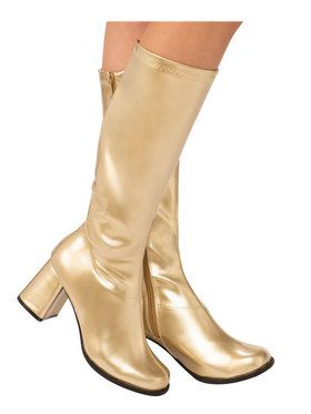 Adult Gold GoGo Boots