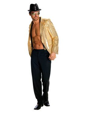 Gold Sequin Adult Jacket