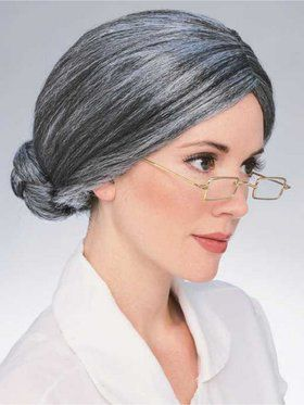 Old Gray Lady Wig for Adult