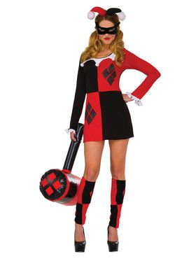 Womens Harley Quinn Dress Costume