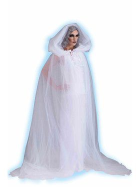 Adult Haunted Hooded Cape and Dress Womens Costume