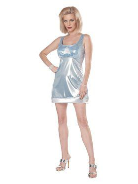 High School Reunion Adult Blue Mini Dress