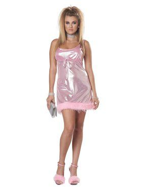 High School Reunion Adult Pink Mini Dress Costume