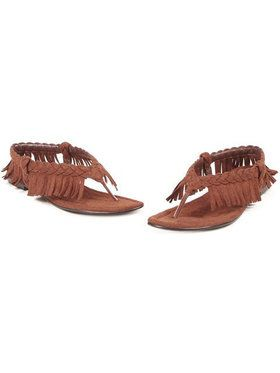 Adult Indian Fringe Flip Flop Sandals