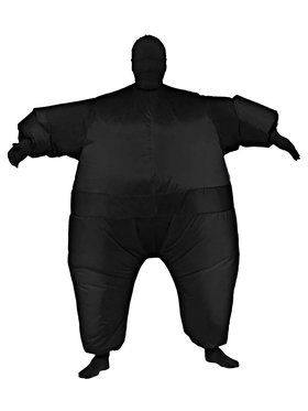Adult Inflatable Black Jumpsuit