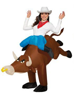 Inflatable Ride-a-Bull Costume for Adults