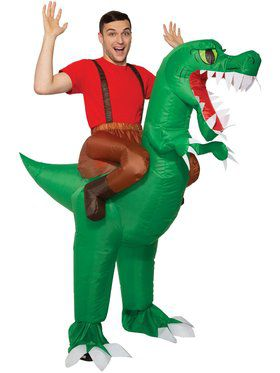 Inflatable Ride A Dinosaur Adult Costume