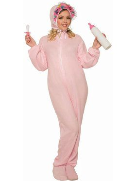 Adult Jammies Pink Costume