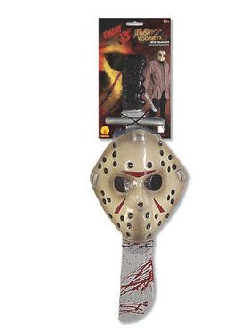 Jason Machete and Mask Set for Adults