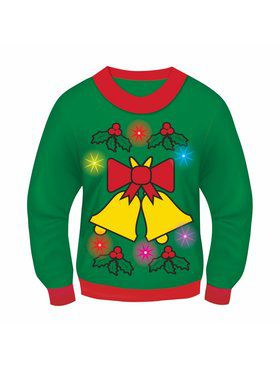 Adult Jingle Bells Classic Light and Sound Sweater