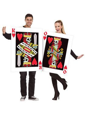 Adult King and Queen of Hearts Costume For Adults