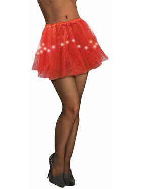 Red Light Up Tutu for Adults
