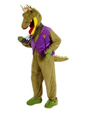 Adult Mardi Gras Alligator King Costume