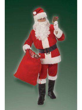 Adult Mens Velour Santa Suit Costume