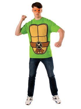 Adult Michelangelo Shirt and Eye Mask