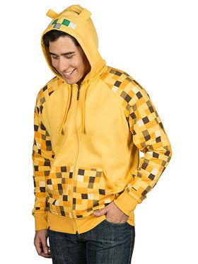 Adult Minecraft Ocelot Premium Zip-up Hoodie