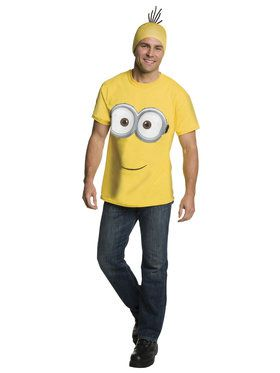 Minions Movie: Minion Shirt Headpiece For Adults