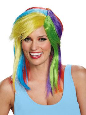 Adult My Lil Pony Rainbow Dash Wig