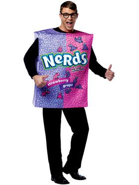 Adult Nestle Nerds Box Unisex Costume