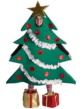 Adult Ornament Tree with Gift Boxes Costume