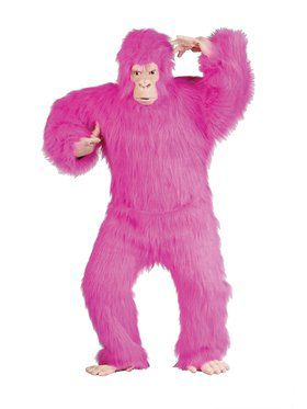 Adult Pink Gorilla Men's Costume