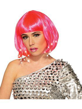 Pink Adult Light Up Wig