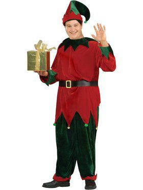 Adult Plus Size Deluxe Santas Helper Costume