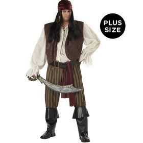 Adult Plus Size Rogue Pirate Costume