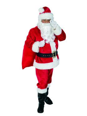 Complete Plush Santa Suit Classic Kit