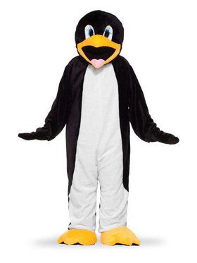 Adult Plush Penguin Mascot Costume