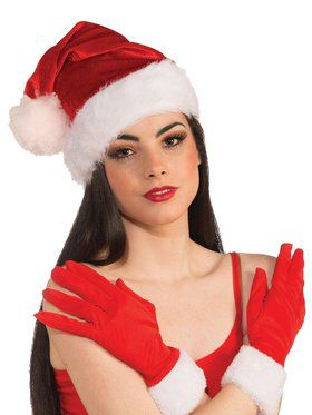 Red Plush Santa Hat for Adults