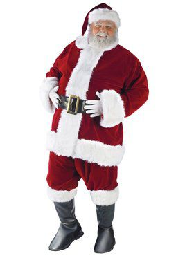 Adult Professional Quality Ultra Velvet Santa Suit