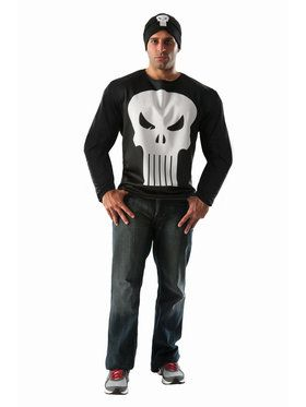 Adult Punisher Costume Top and Mask