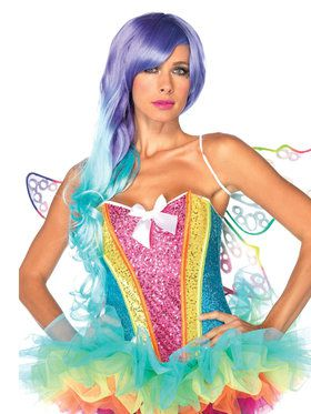 Adult Rainbow Sequin Corset