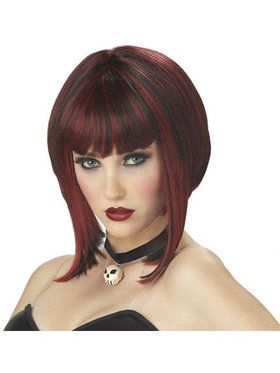 Adult Red and Black Red Riding Hood Wig