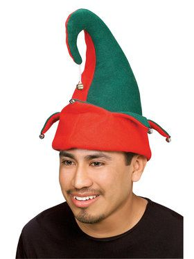 Adult Red and Green Elf Hat with Bells  sc 1 st  Wholesale Halloween Costumes & Christmas Hats   Christmas Hats and other Styles for Christmas and ...