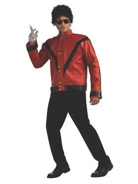 Deluxe Michael Jackson Red Thriller Jacket for Adult
