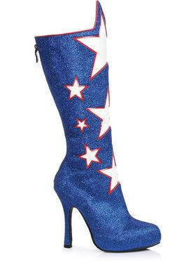 Adult Red, White and Blue Boot