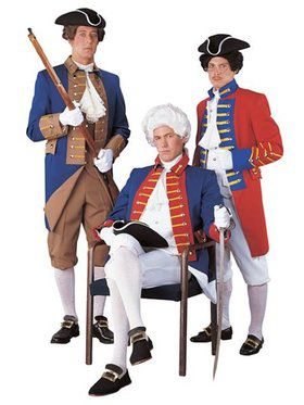 Adult Regency Red, White and Blue Soldier Costume