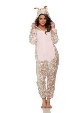 Reindeer Jumpsuit Costume for Adults