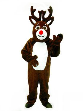 Adult Reindeer Suit with Mascot Head Costume