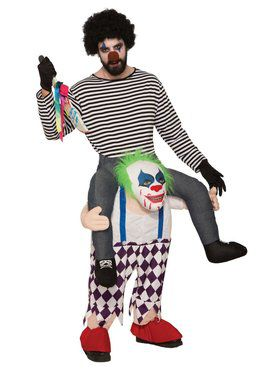 Adult Ride-A- Evil Clown Costume