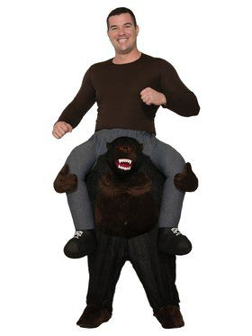 Ride On Gorilla Costume for Adults