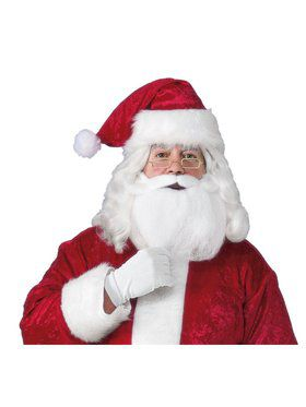 Santa Beard, Wig, Glasses Accessory Set for Adults