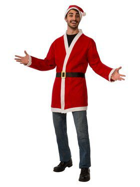 Santa Jacket Costume for Adults