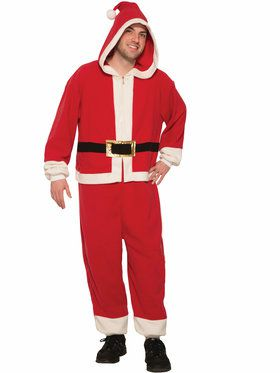 Adult Santa Hooded Jumpsuit